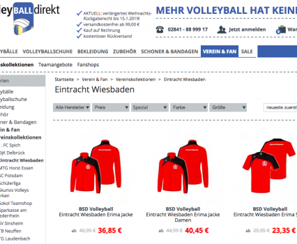 Vereinskollektion mit VolleyballDirekt